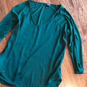 The Limited mixed media green top